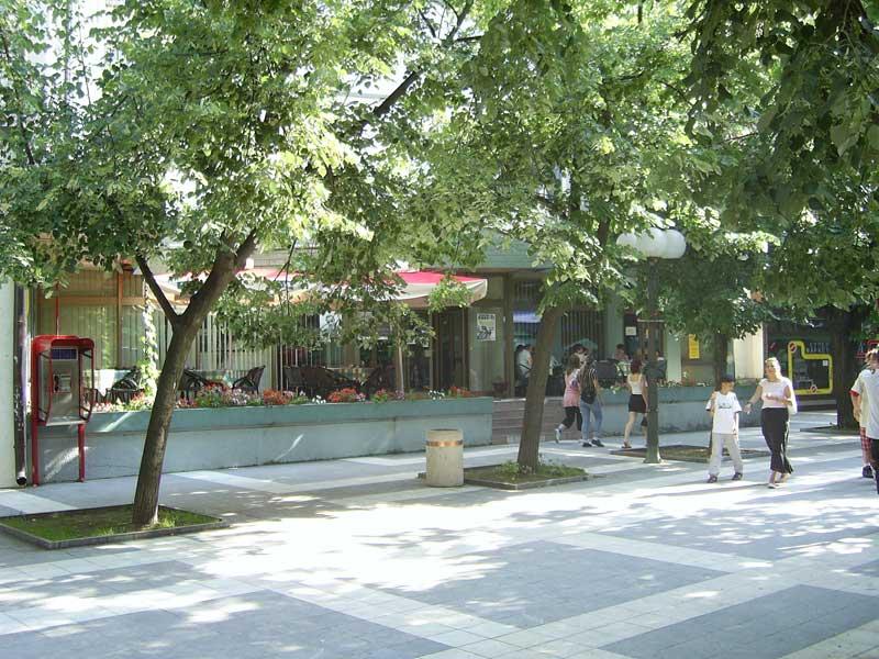 Sokobanja hotel Turist pogled na centar