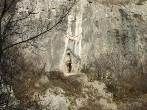 Bogorodica u kamenu na Lepteriji